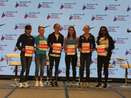 The womens elite field at Chicago 2017