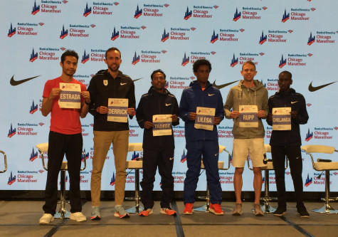 The elite men at the 2017 Chicago Marathon including Rupp
