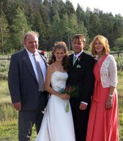 Joe and Susan Shay with Alicia and Ryan on their wedding day