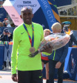 Abdi Abdirahman after finishing third at the 2016 TCS New York City Marathon (photo by Jane Monti for Race Results Weekly)