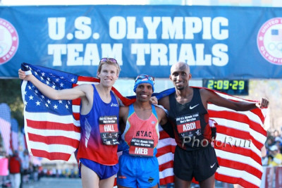 Meb After Winning the 2012 Olympic Marathon Trials