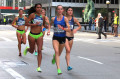 Molly Huddle leads Brenda Martinez, Molly Seidel, Stephanie Garcia and Lauren Paquette on the way to victory at the USA 5-K Championships in New York City hosted by the Abbott Dash to the Finish 5-K (photo by Jane Monti for Race Results Weekly)