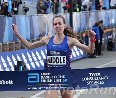 Molly Huddle Wins Abbott Dash to Finishline 5k