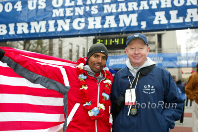 Meb and Coach Bob Larsen