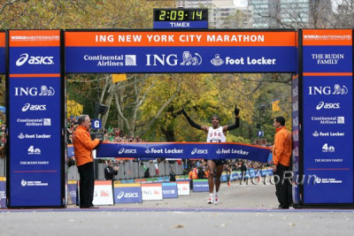 Meb Win the 2009 ING NYC Marathon