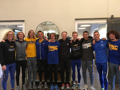 Mike (center) and UMKC team