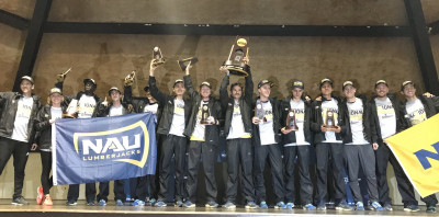 NAU celebrates. Photo via @NAUTrackFieldXC.
