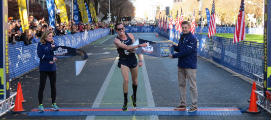 Tim Ritchie of New Haven, Conn., wins the 2017 USA Marathon Championships men's title at the California International Marathon in Sacramento, Calif., in 2:11:55 (photo by David Monti for Race Results Weekly)