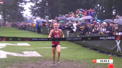 Tuohy was all alone at the finish -- and for most of the race before that, too