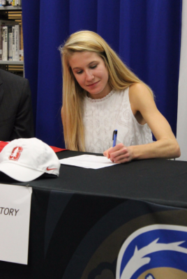Story will be joining an NCAA podium squad at Stanford next year