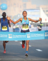 Dereje wins Dubai in 2018 - Photo courtesy of Giancarlo Colombo / Standard Chartered Dubai Marathon