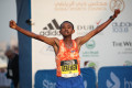 Mosinet Geremew Bayit wins Dubai in 2018 - Photo by Giancarlo Colombo/Standard Chartered Dubai Marathon