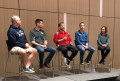 The coaches: Dan Iverson, Jonathan Dalby, Doug Soles, John O'Malley, Joan Hunter (l-r)