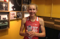 Katelyn Tuohy of North Rockland High School in Thiells, N.Y., after winning the NYRR Millrose Games Trials mile at the Armory Track & Field Center in Manhattan in a personal best 4:43.62 (photo by David Monti for Race Results Weekly)