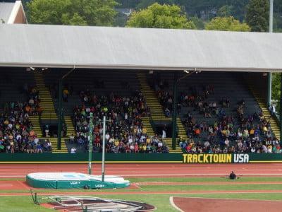 Hayward Field during the 2014 NCAA outdoor championships