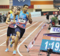 Brazier en route to victory at USA Indoors in February (Phil Bond photo)