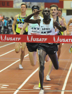 Chelimo completed a 1500/3k double at USAs
