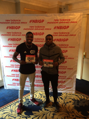 Two of the fastest men in the United States