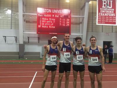 World record holders (from left) Merber, Giesting, Garn, & McAsey