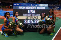 Ajee Wilson, Charlene Lipsey, Chrishuna Williams, Raevyn Rogers after World Record