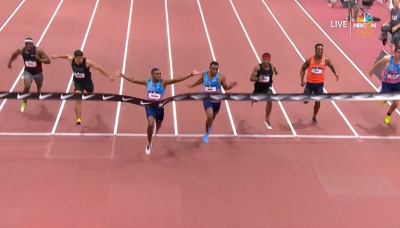 Christian Coleman - the new WR holder at 60 meters
