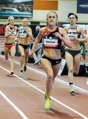 Houlihan looked terrific in winning the 1500 & 3k at USAs (Phil Bond photo)