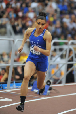McLaughlin is set to run her first 400 hurdles race of 2018 on Friday (photo by Bert Richardson)