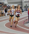 Cranny battling Arkansas Dom Scott in the DMR at NCAAs in 2015