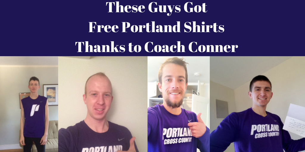 Free Portland Shirts Thanks to Coach Conner