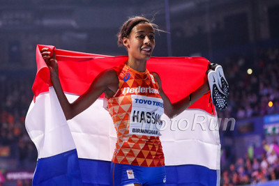 Sifan Hassan at World Indoors