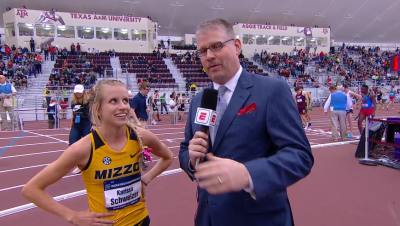 Schweizer has done a bunch of post-race interviews with ESPN's John Anderson at this point