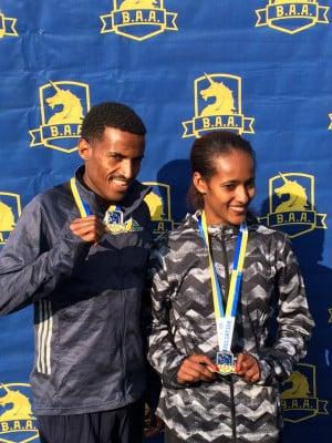 Champions Gebrhiwet and Diriba