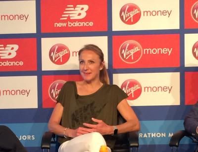 Radcliffe on Friday ahead of the 2018 Virgin Money London Marathon
