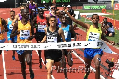Centro finished second by .10 at the 2015 Pre Classic; it's the closest he's come to a DL victory