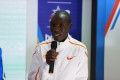 Geoffrey Kamworor at the TCS World 10K Bengaluru 2018 press conference