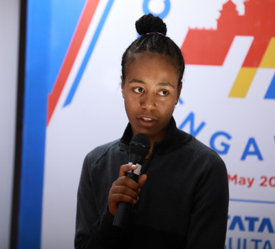 Netsanet Gudeta at the TCS World 10K Bengaluru 2018 press conference