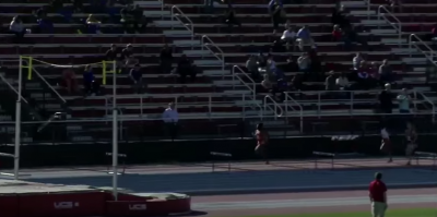 pic of crowd during Sydney McLaughlin's 400m  hurdle world leader