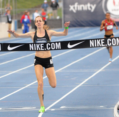Molly Huddles Wins 2018 USATF 10,000m. Photo by Phil Bond