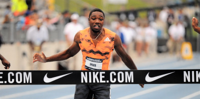 Lyles with USATF title #1 of ???? (Photo by Phil Bond)