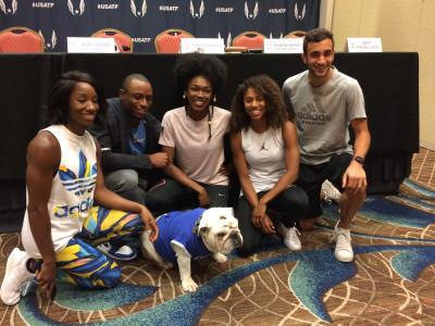 Harrison, Baker, Franklin, Carter, Andrews, and Drake mascot Griff the Bulldog