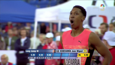 Even Echevarria couldn't quite believe how far he jumped today