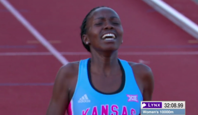 "Lokedi said she felt ""pure joy"" after her first NCAA title"