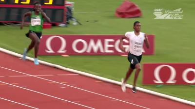 Semenya pulling away from Niyonsaba final 100m