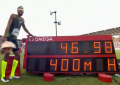 Abderrahman Samba breaks 47.00