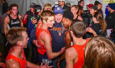 Hehir, Fox, and Knight celebrate Syracuse's NCAA title in 2015