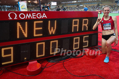 Courtney Frerichs after breaking American record