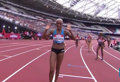 Brown celebrates her first big international win