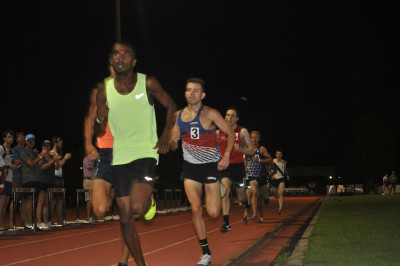 Prince pacing the men's mile