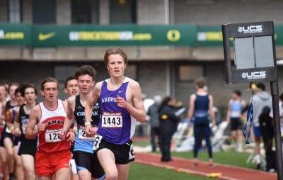 Bailey running at Hayward Field