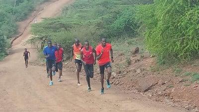 A hill session at RAC (courtesy Bernard Ouma)
